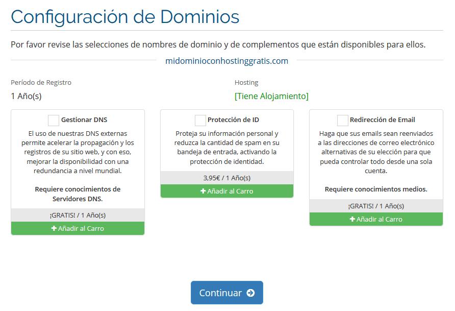 tutorial activar alojamiento gratis buscar nombre de dominio disponible en seidonet